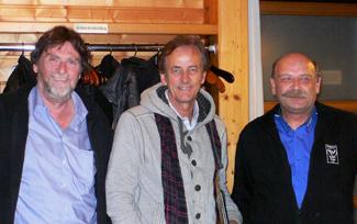 v. L.: Christoph Hasler (CH),  Arie Luyendyk (USA), Wendelin Egger