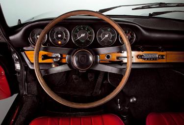 Interieur des Porsche 911 2.0 Coupé (Baujahr 1964)