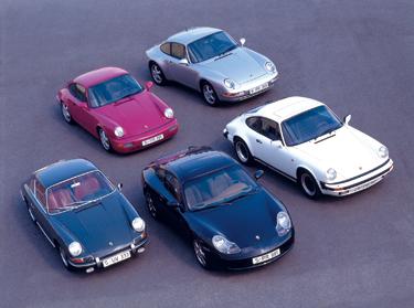5 Generationen Porsche 911