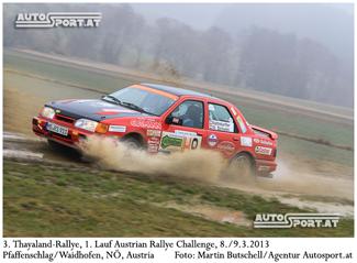 Alfons Nothdurfter/Walter Schuen (Ford Sierra Cosworth)/Thayaland-Rallye 2013