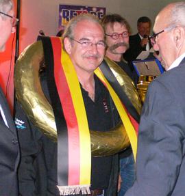 Meister Bender und Vizemeister Dechent zwischen Müller (r) und Hoffmann (L)