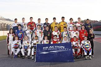 8 Andre Rudersdorf (D, ma-con, Dallara F312 Volkswagen), 7 Sven Mueller (D, ma-con, Dallara F312 Volkswagen), 2 Alex Lynn (GB, Prema Powerteam, Dallara F312 Mercedes), 5 Pascal Wehrlein (D, Muecke Motorsport, Dallara F312 Mercedes), 20 Tom Blomqvist (GB, Eurointernational, Dallara F312 Mercedes), 17 Antonio Giovinazzi (I, Double R Racing, Dallara F312 Mercedes), 32 Sean Geleal (RI, Double R Racing, Dallara F312 Mercedes), 25 Eddie Cheever (I, Prema Powerteam, Dallara F312 Mercedes), 22 Michael Lewis (USA, Romeo Ferraris, Dallara F312 Mercedes), 29 Roy Nissany (IL, Muecke Motorsport, Dallara F312 Mercedes), 16 Tatiana Calderon (CO, Double R Racing, Dallara F312 Mercedes), 20 Tom Blomqvist (GB, Eurointernational, Dallara F312 Mercedes), 26 Nicholas Latifi (CDN, Carlin, Dallara F312 Volkswagen), 3 Harry Tincknell (GB, Carlin, Dallara F312 Volkswagen), 31 Dmitry Suravonich (RUS, Fortec Motorsports, Dallara F312 Mercedes), 28 Mitchell Gilbert (AUS, Muecke Motorsport, Dallara F312 Mercedes), 18 Dennis van de Laar (NL, Van Amersfoort Racing, Dallara F312 Volkswagen), 19 Mans Grenhagen (S, Van Amersfoort Racing, Dallara F312 Volkswagen), 1 Raffaele Marciello (I, Prema Powerteam, Dallara F312 Mercedes), 23 Michela Cerruti (I, Romeo Ferraris, Dallara F312 Mercedes), 24 Lucas Auer (A, Prema Powerteam, Dallara F312 Mercedes), 6 Felix Rosenqvist (S, Muecke Motorsport, Dallara F312 Mercedes), 27 Jann Mardenborough (GB, Carlin, Dallara F312 Volkswagen), 4 Jordan King (GB, Carlin, Dallara F312 Volkswagen), 11 Felix Serralles (PR, Fortec Motorsports, Dallara F312 Mercedes), 15 Richard Goddard (AUS, Threebond with T-Sport, Dallara F312 ThreeBond Nissan), 12 Luis Felipe Derani (BR, Fortec Motorsports, Dallara F312 Mercedes), 14 William Buller (GB, Threebond with T-Sport, Dallara F312 ThreeBond Nissan), FIA Formula 3 European Championship Test Barcelona (E) - 8. - 9. March 2013 - Foto: FiaF3/Suer