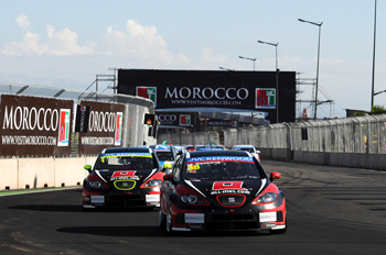 Marc Basseng und Rob Huff in Marrakesch - Foto: WTCC Media