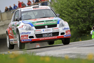 Michael Böhm & Katrin Becker zeigten den Konkurrenten bei der Wechselland-Rallye wie man siegt - Foto: Martin Butschell/Agentur Autosport.at