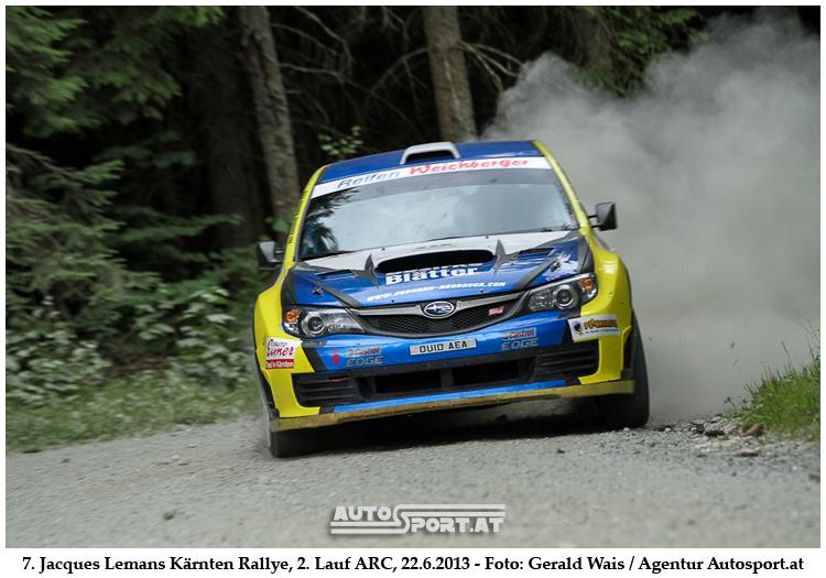 Hermann Neubauer fährt einen überlegenden Sieg bei Jacques Lemans Kärnten-Rallye ein - Foto: Gerald Wais/Agentur Autosport.at