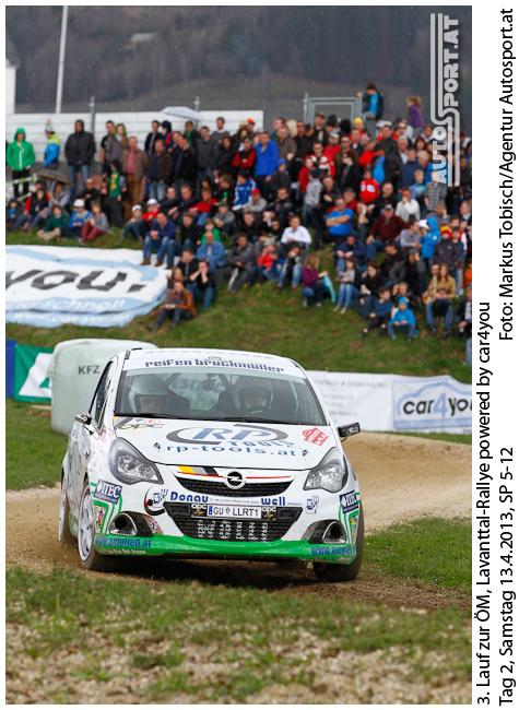 Daniel Wollinger führt vor der Weiz Rallye im Opel Corsa Rallye Cup - Foto: Markus Tobisch/agentur Autosport.at