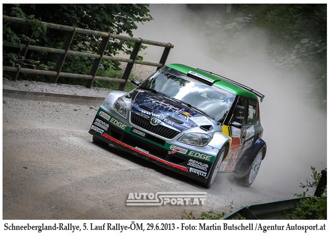 RAimund Baumschlager gewinnt im Schneebergland - Foto: Martin Butschell/Agentur Autosport.at