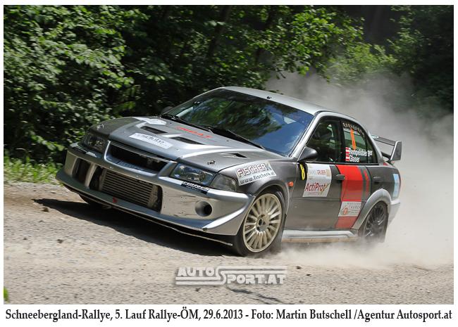Glaser/Rempelsberger erreichen bei der Schneebergland Rallye 2013 den 9. Platz Gesamt - Foto: Martin Butschell/Agentur Autosport.at
