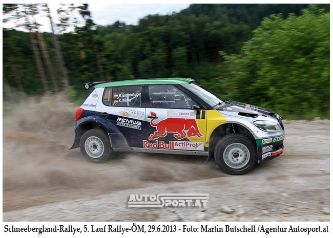 Raimund Baumschlager gewinnt die Schneebergland Rallye 2013 - Foto: Martin Butschell
