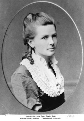 Pionierin des Automobils: Bertha Benz, hier ein Jugendbildnis, war eine Wegbereiterin für die Verbreitung der motorisierten Fahrzeuge.