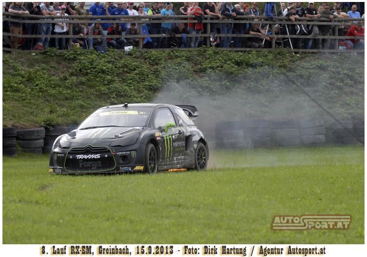 Liam Doran - Dominator der Supercars rollt nach Feuer aus - Foto: Dirk Hartung/Agentur Autosport.at