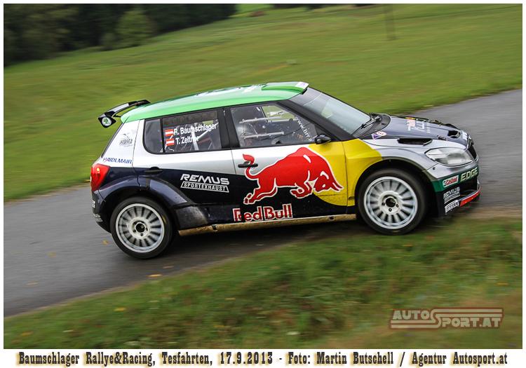 Raimund Baumschlager - Führung nach Tag 1 der ARBÖ-Rallye 2013 - Foto: Martin Butschell/Agentur Autosport.at
