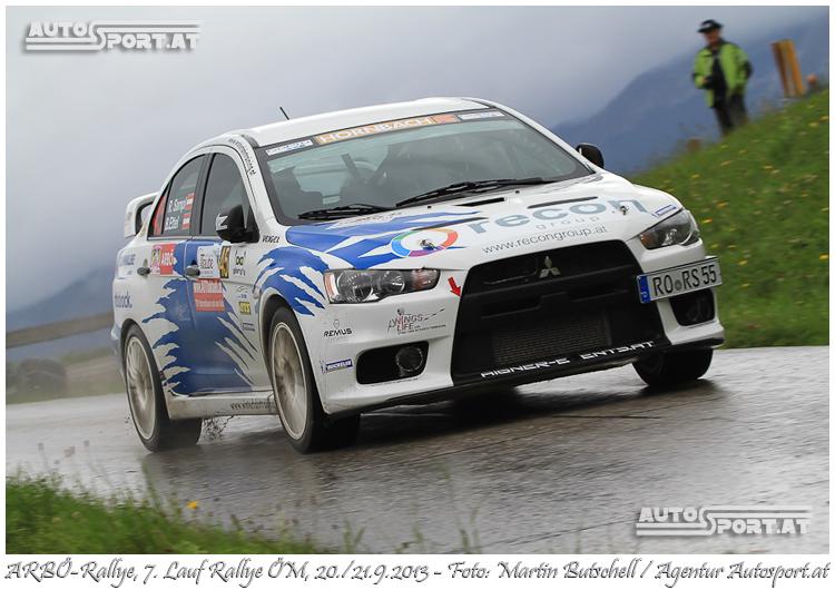 Reini Sampl: Out bei der Arbö-Rallye 2013 - Foto: Martin Butschell /Agentur Autosport.at
