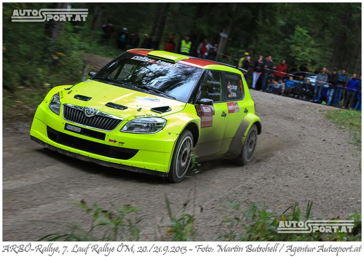 Chris Brugger überzeugt stark bei seinem Rallye-ÖM-Debüt - Foto: Martin Butschell/Agentur Autosport.at