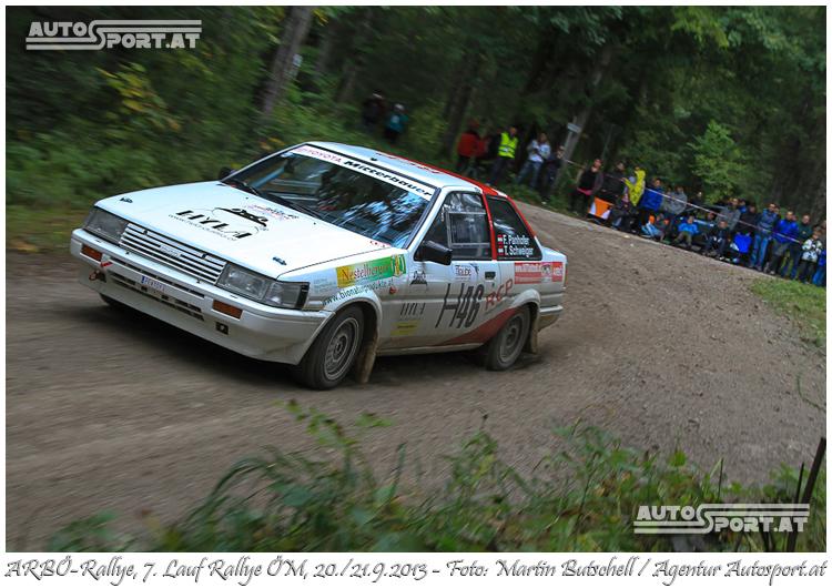 Franz Panhofer/Tamara Schweiger - Top-Platzierung bei Arbö-Rallye 2013 - Foto: Martin Butschell /Agentur Autosport.at