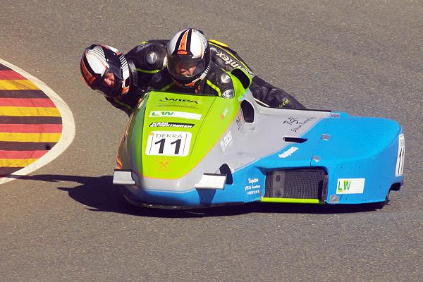 Kimeswenger/Billich beste Gaststarter in der IDM Sidecar am Sachsenring 2013 - Foto: Sidecarteam Kimeswenger/Billich