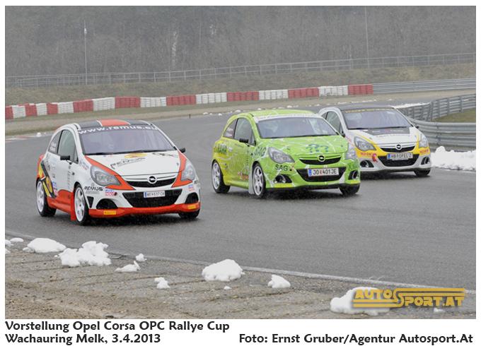 Endspurt beim Opel Corsa OPC Rallye Cup 2013 - Foto: Ernst Gruber/Agentur Autosport.at