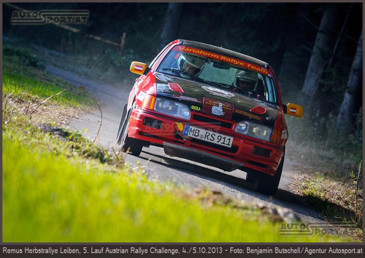 Alfons Nothdurfter/Dominik Riedmayer (Ford Sierra Cosworth 4x4)/REMUS Herbst-Rallye - Foto: Benjamin Butschell/Agentur Autosport.at