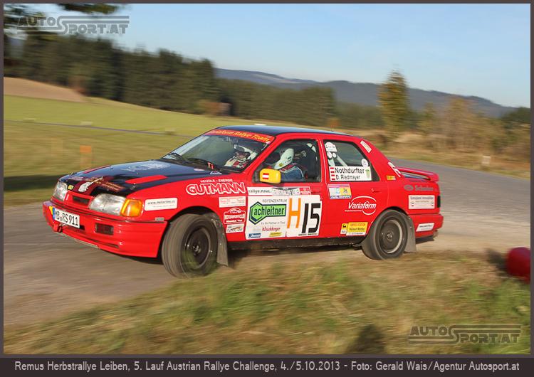 Alfons Nothdurfter/Dominik Riedmayer (Ford Sierra Cosworth 4x4)/REMUS Herbst-Rallye - Foto: Gerald Wais/Agentur Autosport.at
