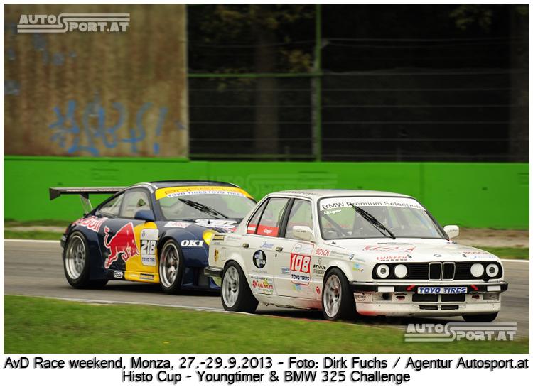 Die BMW 325 Challenge startete in Monza zusammen mit den Youngtimern - Foto: Dirk Fuchs/Agentur Autosport.at