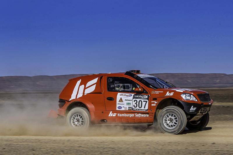 Rallye Marokko 2013, Rückblick: HS RallyeTeam beweist Kampfgeist - Foto: DPPI
