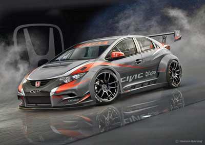 Honda stellt neuen WTCC-Tourenwagen für 2014 vor