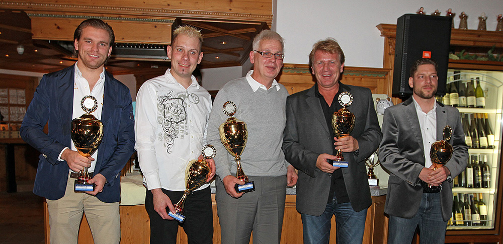 v.l.n.r. Fabian Plentz, Andreas Fiedler, Gerhard Münch, Tommy Tulpe und Jacques Breitenmoser  - Foto: Patrick Holzer Presse SCC