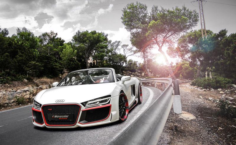 Audi R8 V10 SPYDER MIT BODYKIT von REGULA TUNING