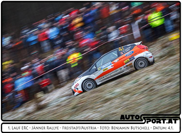 Sulzinger/Heigl: Showfahren nach SP 1 - Foto: Benjamin Butschell/Agentur Autosport.at