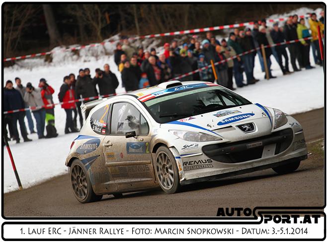 Andreas Aigner erreicht Platz 6 bei der Jänner Rallye 2014  - Foto: Marcin Snopkowski/Agentur Autosport.at
