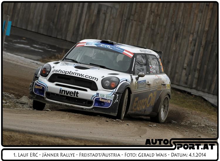 Vaclav Pech übernimmt erneut die Führung bei der Jänner Rallye 2014 - Foto: Gerald Wais / Agentur Autosport.at