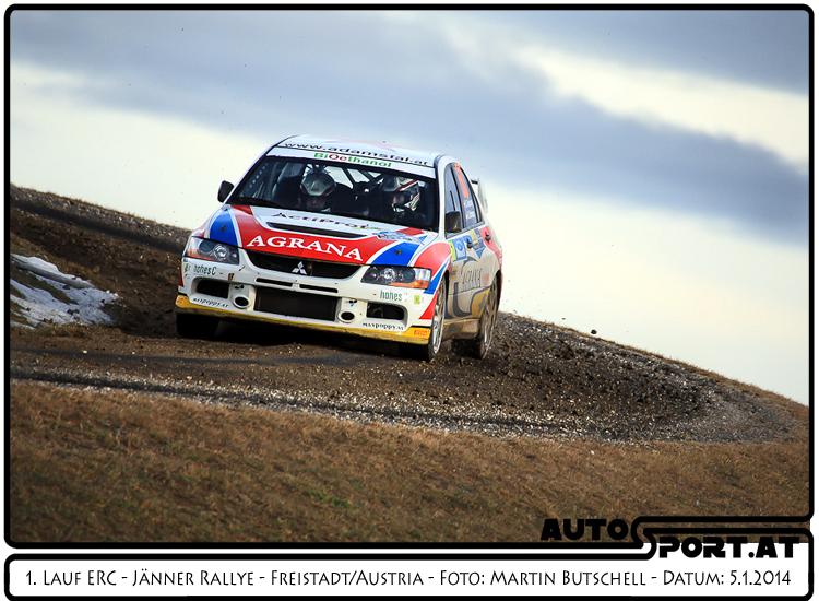 Gerwald Grössing/Siegi Schwarz siegen deutlich in der nationalen Wertung der Jänner Rallye 2014 - Foto: Martin Butschell/Agentur Autosport.at