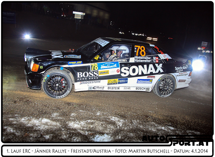 Hinterreiters ließen es krachen, zumindest den Benz  - Foto: Martin Butschell/Agentur Autosport.at