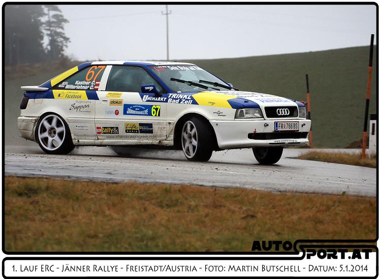 Christian Mitterlehner und sein Copilot Christopher Kastner erreichen zum ersten Mal das Ziel bei der Jänner Rallye - Foto: Martin Butschell/Agentur Autosport.at
