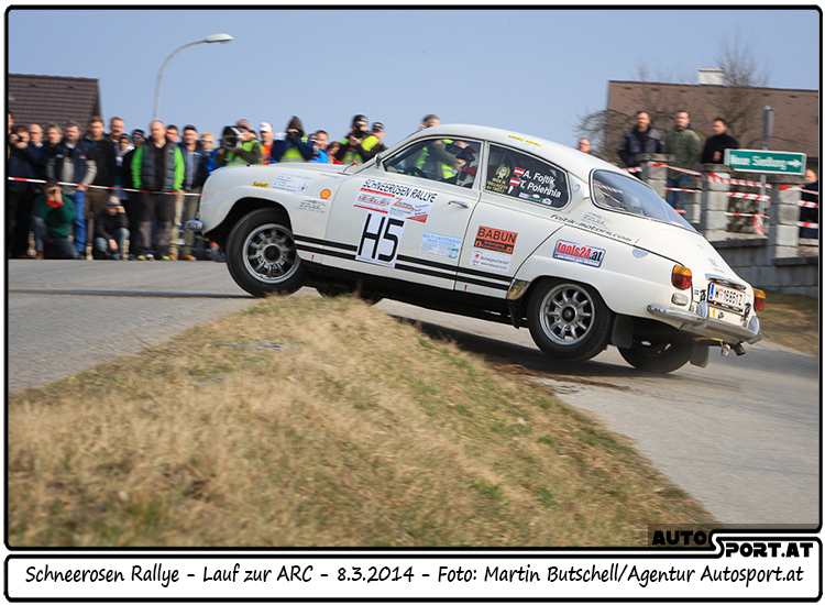 Rückkehr Sauriers SAAB 96 V4 bei Schneerosen Rallye - Foto: Martin BUtschell/Agentur Autosport.at