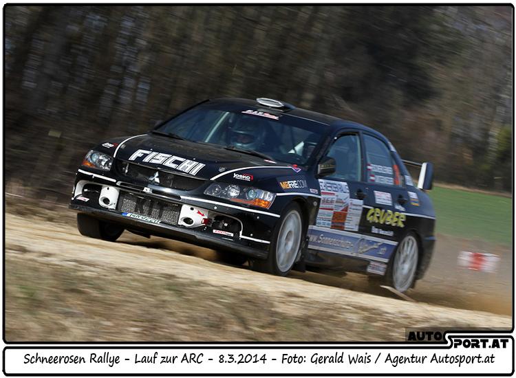 Martin Fischerlehner erreicht Platz 2 bei der Schneerosen Rallye - Foto: Gerald Wais/Agentur Autosport.at