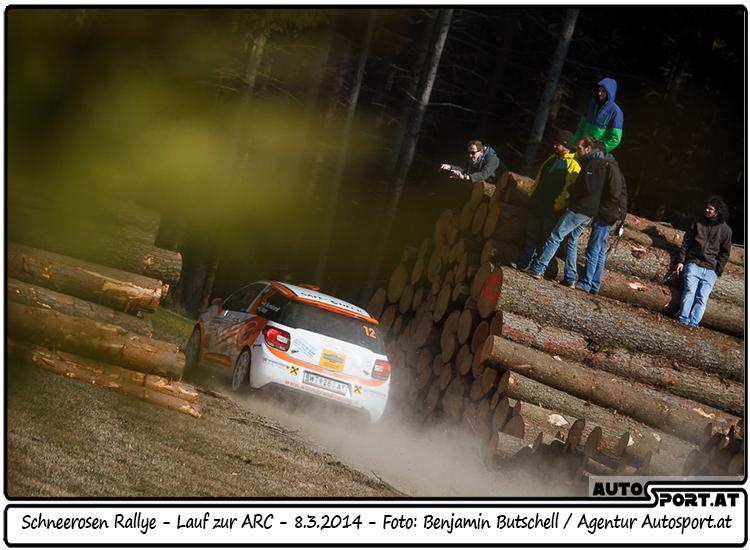 Manuel Wurmbrand feiert überlegenen Klassensieg bei der Schneerosen-Rallye - Foto: Benjamin Butschell/Agentur Autosport.at