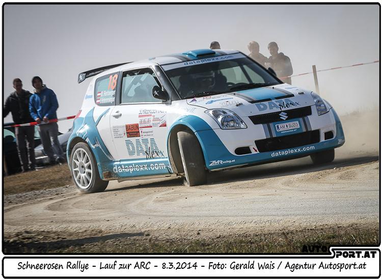 Wolfgang Rehberger hat Zielsetzung bei Schneerosen Rallye teilweise erfüllt - Foto: Gerald Wais/Agentur Autosport.at