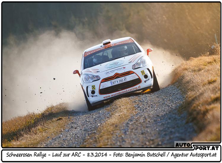 Manuel Wurmbrand feiert überlegenen Klassensieg bei der Schneerosen-Rallye - Foto: Foto: Benjamin Butschell/Agentur Autosport.at