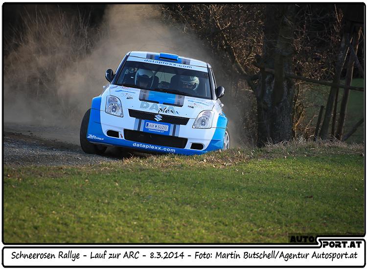 Wolfgang Rehberger hat Zielsetzung bei Schneerosen Rallye teilweise erfüllt - Foto: Martin Butschell/Agentur Autosport.at