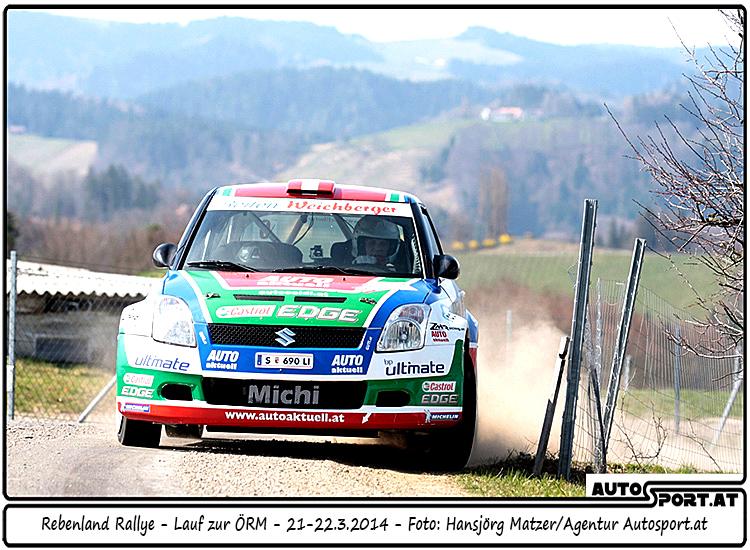 Unerwartetes Aus für Michi Böhm/Katrin Becker bei der 2014er Rebenland-Rallye - Foto: Hansjörg Matzer/Agentur Autosport.at