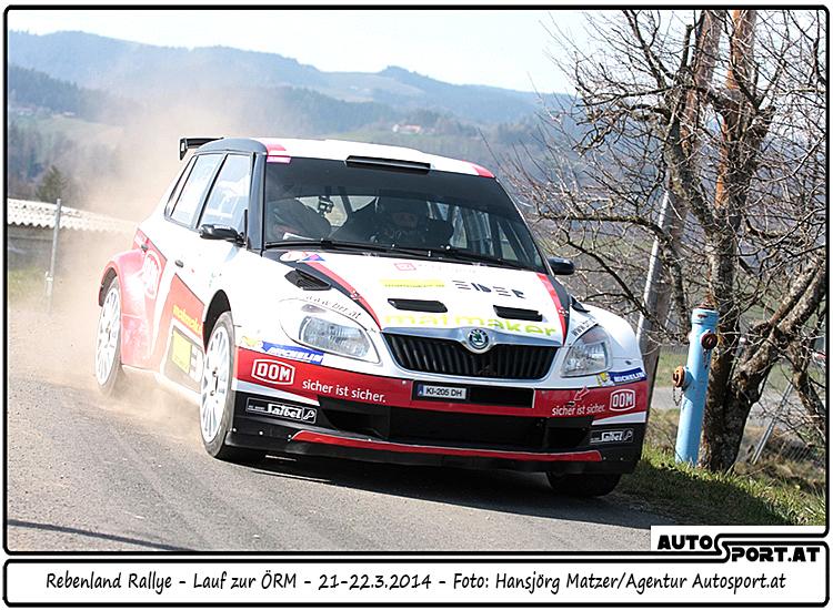 Das Podium ist noch in Reichweite für Mario Saibel/Ursula Mayrhofer (Skoda Fabia S2000) - Foto: Hansjörg Matzer/Agentur Autosport.at