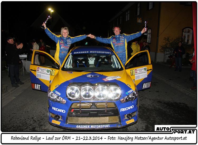 Sichtlich wohl haben sich Gassner/Thannhäuser im Rebenland gefühlt - Foto: Hansjörg Matzer / Agentur Autosport.at