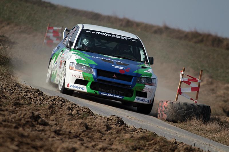 Kalteis/Lang überzeugten bis zu ihrem Ausfall bei der Schneerosen Rallye 2014 - Foto: Benjamin Butschell/Agentur Autosport.at