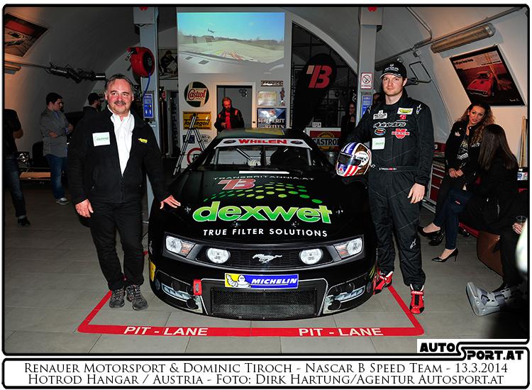 Dominic Tiroch (rechts) und Teamchef Sepp Renauer - Foto: Dirk Hartung /Agentur Autosport.at