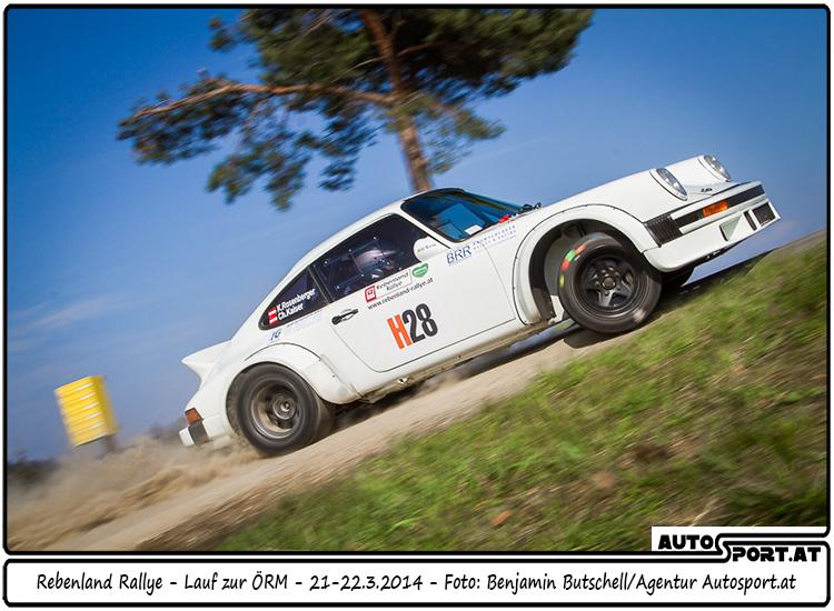 Kris Rosenberger und seine Copilotin Christina Kaiser im Porsche 911 SC - Foto: Benjamin Butschell/Agentur Autosport.at