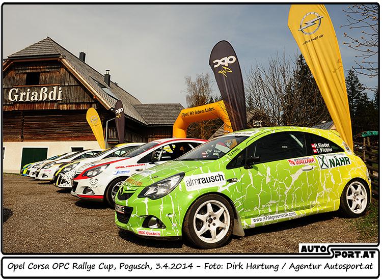 Die 2014er-Saison des Opel Corsa OPC Rallye Cups verzeichnet insgesamt 12 Teams - Foto: Dirk Hartung/Agentur Autosport.at