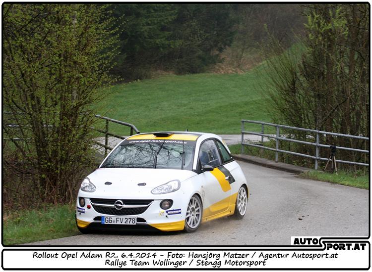 Daniel Wollinger startet erstmals im Opel Adam R2 Werksauto - Foto: Hansjörg Matzer/Agentur Autosport.at