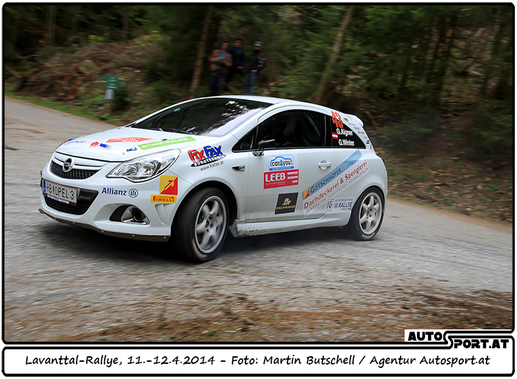Gerhard Aigner/Gerald Winter gewinnen des ersten Lauf des Opel Corsa OPC Rallye Cups 2014 - Foto: Martin Butschell/Agentur Autosport.at
