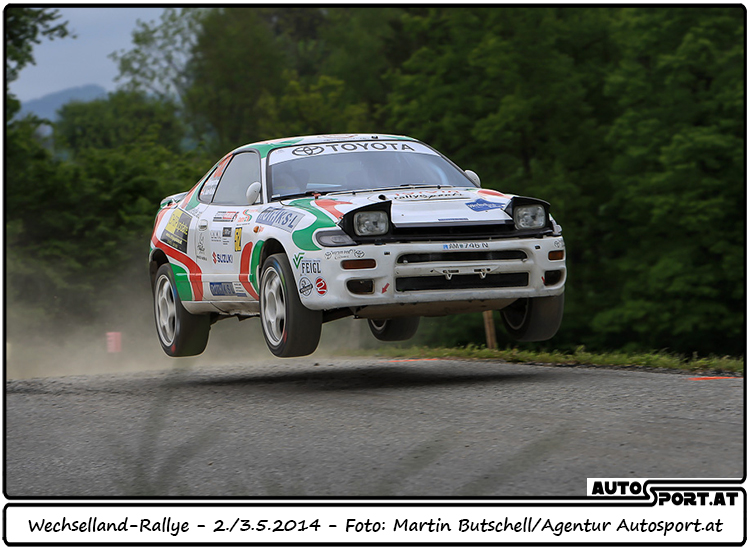 Herbert Weingartner und Alexandra Auer-Kaller mit P2 Bestzeit auf der zweiten Prüfung - Foto: Martin Butschell/Agentur Autosport.at
